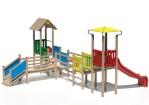 Drewniane Place Zabaw - Modułowy System Wesoła Kraina, Zestaw Hipcio