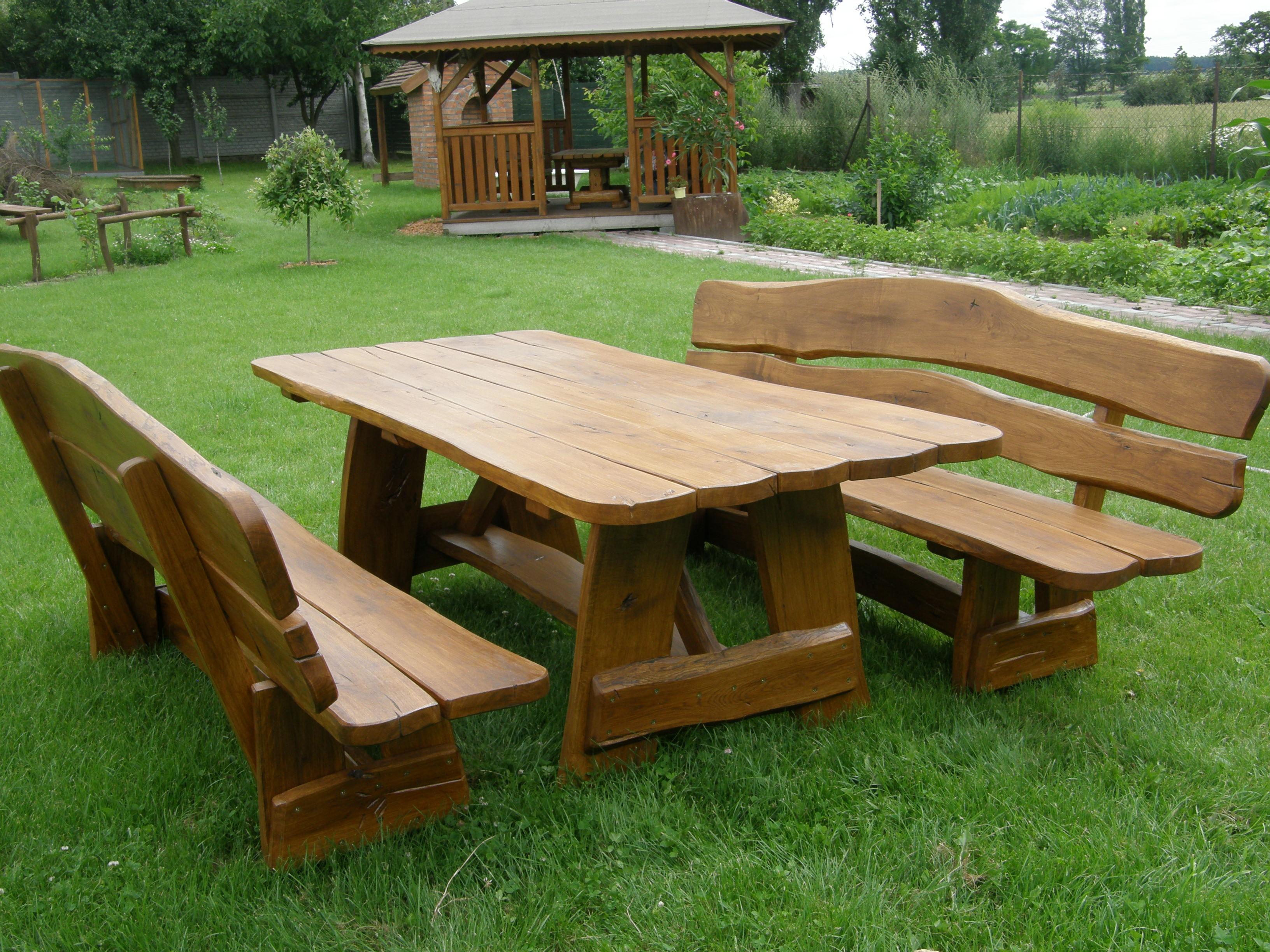 Drewniane Place Zabaw – Elementy uzupełniające – Ławki i