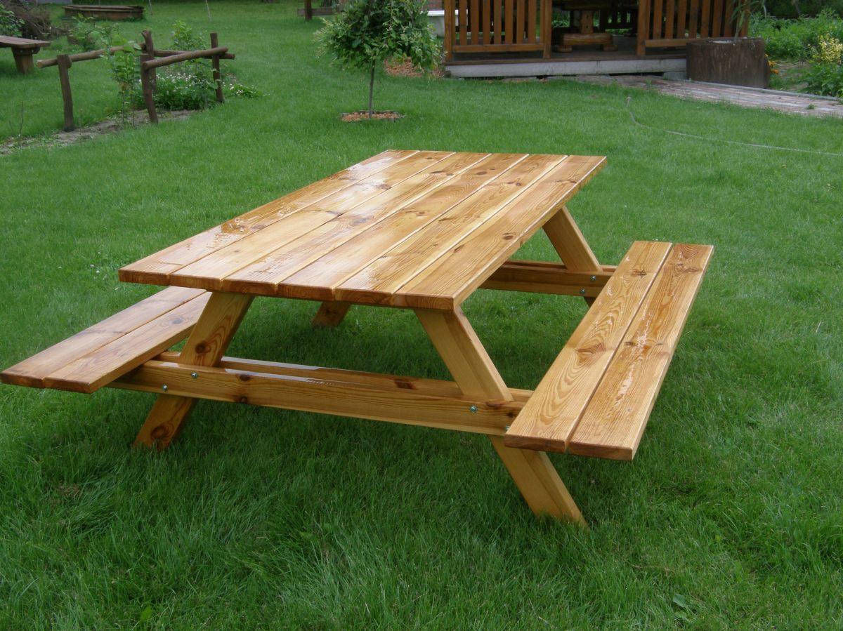 Drewniane Place Zabaw - Elementy uzupełniające - Ławki i stoły