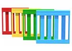 Drewniane Place Zabaw, System Modułowy, Urządzenia pomocnicze: 1. Barierka Drewniana