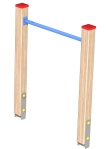 Drewniane Place Zabaw, System Modułowy, Płaszczyzny: 1. Rurka do przewijania