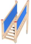 Drewniane Place Zabaw, System Modułowy, Wejścia i zejścia: 3. Schody