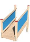 Drewniane Place Zabaw, System Modułowy, Wejścia i zejścia: 5. Trap długi z barierką