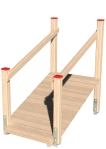 Drewniane Place Zabaw, System Modułowy, Wejścia i zejścia: 4. Trap długi