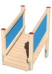 Drewniane Place Zabaw, System Modułowy, Wejścia i zejścia: 7. Trap krótki z barierką