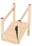 Drewniane Place Zabaw, System Modułowy, Wejścia i zejścia: 6. Trap krótki