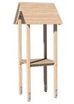 Drewniane Place Zabaw, System Modułowy, Wieże: 3. Wieża z dachem dwuspadowym