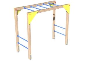 Drewniane Place Zabaw - Urządzenia sprawnościowe - Drabinka pozioma