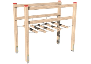 Drewniane Place Zabaw - Urządzenia sprawnościowe - Most wiszący