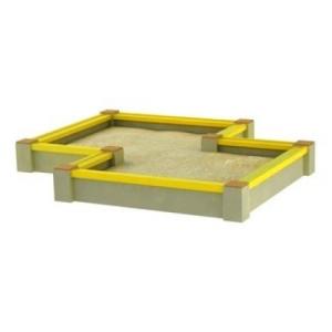 Drewniane Place Zabaw - Urządzenia Pojedyncze - Piaskownica betonowa podwójna