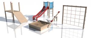 Drewniane Place Zabaw Inter-Trak - Zaprojektuj własny zestaw