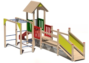 Drewniany zestaw zabawowy Giguś - wizualizacja