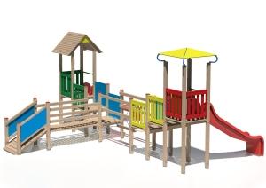 Drewniany zestaw zabawowy Hipcio - wizualizacja