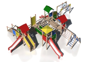 Drewniany zestaw zabawowy Małpi Raj - wizualizacja