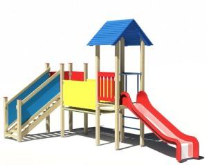 Drewniany zestaw zabawowy Mały Miś