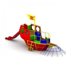 Drewniane place zabaw - zestawy zabawowe - Mini stateczek