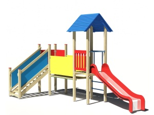 Drewniany zestaw zabawowy Miś - wizualizacja
