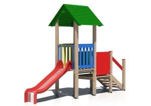 Drewniany zestaw zabawowy Smerfuś - wizualizacja