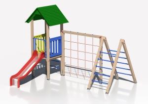 Drewniany zestaw zabawowy Wejście Smoka - wizualizacja