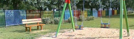 Drewniane Place Zabaw - Gniezno - Huśtawka podwójna