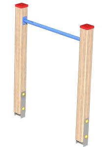 Drewniane Place Zabaw - Urządzenia sprawnościowe - Drążek do przewijania