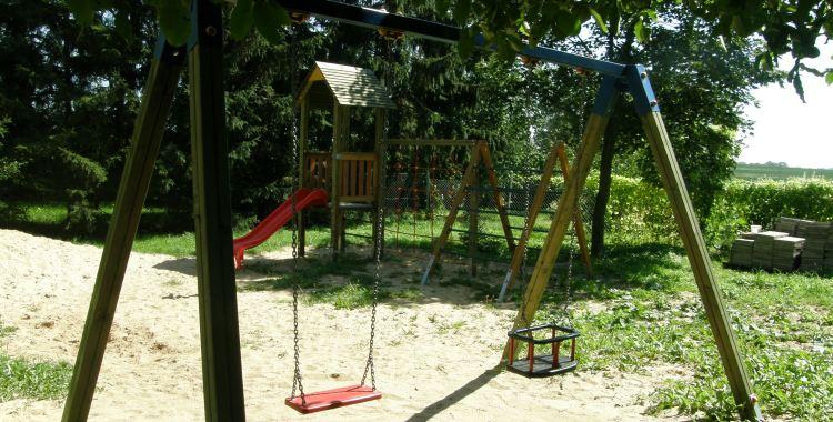 Drewniane Place Zabaw - Sławsko dolne, Huśtawka podwójna
