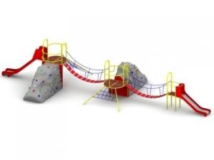 Drewniane Place Zabaw - Urządzenia sprawnościowe - Zestaw wspinaczkowy Skaliniaczek