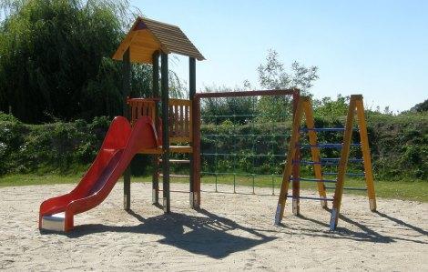 Drewniany Plac Zabaw w Inowrocławiu - zestaw